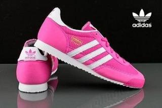 adidas dragon rosa mujer