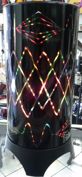 Luminária De Mesa Colorida Abajur Giratório - Sofisticado