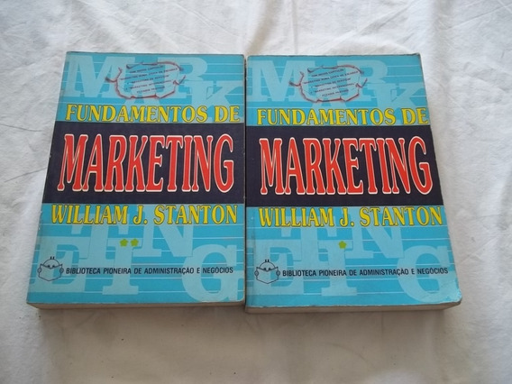 Lote 2 Livros Fundamentos De Marketing - William J. Stanton