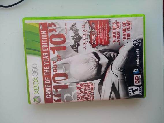 Dvd Jogo X Box 360 Batman Arkham City