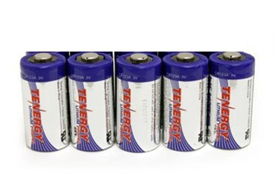 Bateria (pilha) Tenergy Cr123a 3v Proteção Ptc - Pack 5 Un