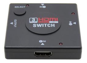 Adaptador Switch 3x1 Divisor 3 Portas Hdmi Tv