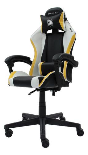 Cadeira Gamer Racer || Oficial - Santos F.c Reclinável Altur