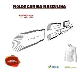 Molde Camisa Slim Manga Longa/curta P Aog3 Envio Por Email