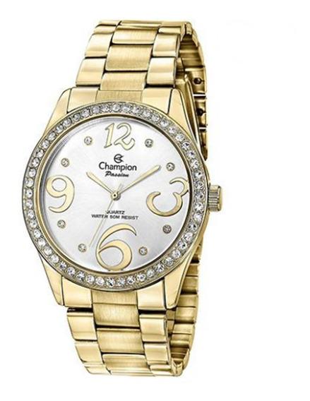 E1)relógio Champion Dourado Ch24464h Feminino- Frete Grátis