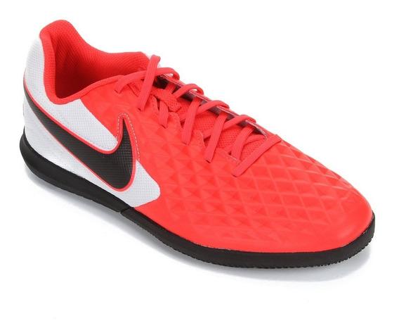 Chuteira Nike Tiempo Legend 8 Club Coral E Branca - Society
