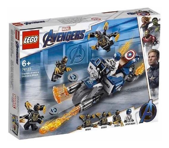 Lego Capitán América 76123 Ataque Outriders Nuevo Caja Mal