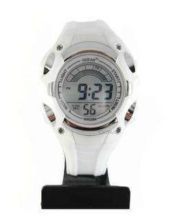 Reloj Mujer Deportivo Cronometro Sumergible Blanco + Cuotas