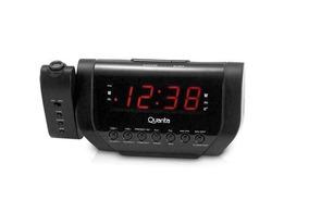 Rádio Relógio Am Fm Projetor Digital Hora Despertador Bivolt