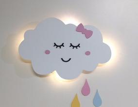 Nuvem Luz Led Luminária Com Gotas Chuva De Amor Bq Decoração