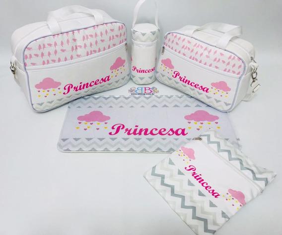 Bolsa Maternidade Para Bebê Personalizada Com Princesa