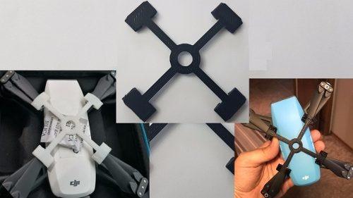 Dji Spark Drone Protetor Trava Helices Seguranca Suporte