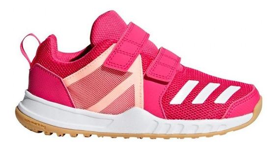 Zapatillas Running adidas Fortagym Niñas Fucsia Con Abrojs