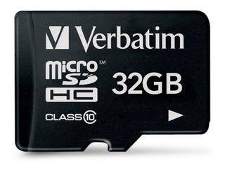 Memoria Micro Sd 32gb Verbatim Clase 10 Celular + Adaptador