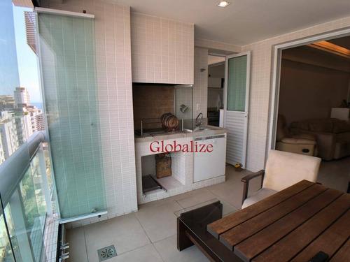 Imagem 1 de 30 de Apartamento À Venda, 129 M² Por R$ 1.330.000,00 - Aparecida - Santos/sp - Ap0693