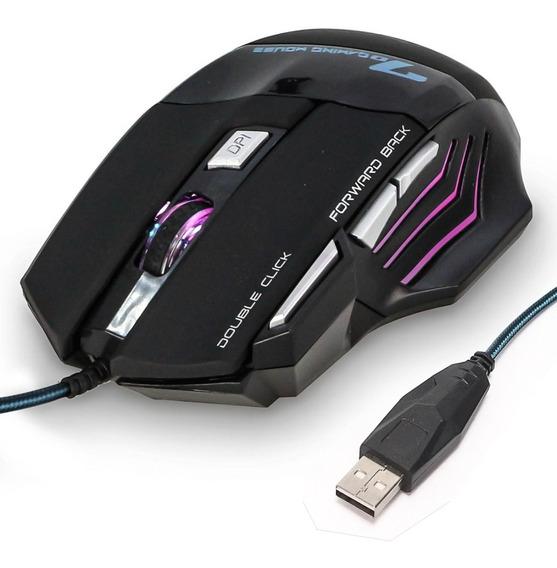 Mouse Gamer X7 2400dpi Óptico Usb 7 Botões Led Rgb Precisão