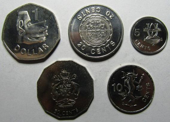 Islas Salomon Set De 5 Monedas 2005 Unc Sin Circular