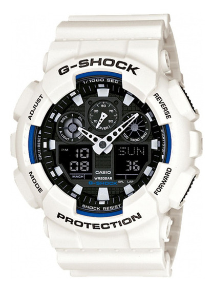Relógio Casio G-shock Digital E Analógico Branco/preto