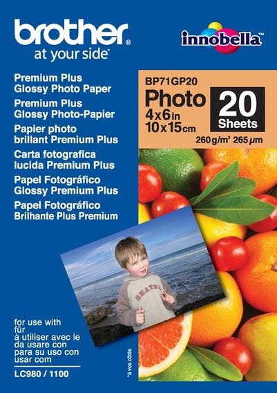 Papel Fotografico Brother Bp71gp20 Brillante Fotografico /v