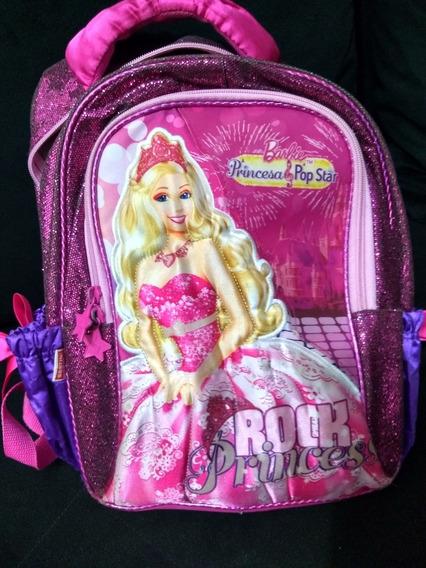 Promoção - Mochila Original Escolar Pink Da Barbie - Usada