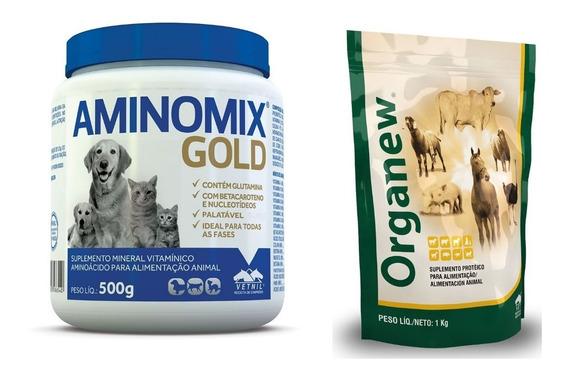 Organew 1 Kg + Aminomix Gold Pó 500g Vetnil
