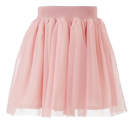 Falda Niña - Tul Rosa Cintura Elástica Talla 4, 6, 8, 10 (importado- Nuevo Con Etiquetas)
