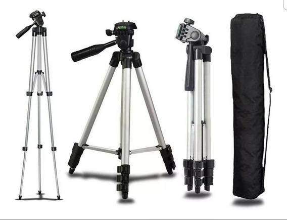 Tripé Câmera Universal Celular 1,50mt + Bolsa + Suporte