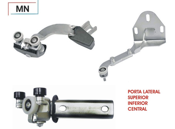 Kit Guia Porta Lateral Sup Inf Central Iveco Daily 07 A 11
