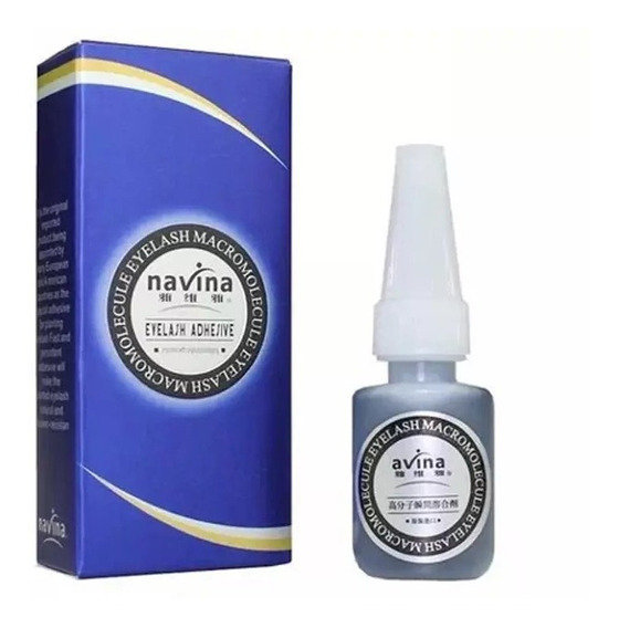 Cola Cílios Postiço Navina Azul Alongamento Pró - 10g