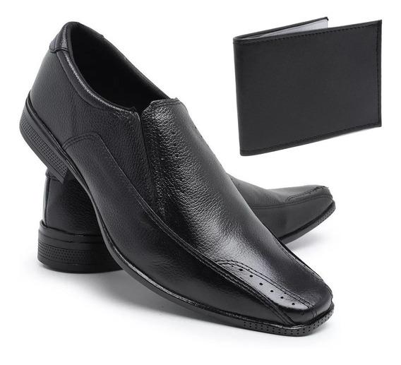 Sapato Masculino Social Couro Ref:506 Frangarcia + Carteira