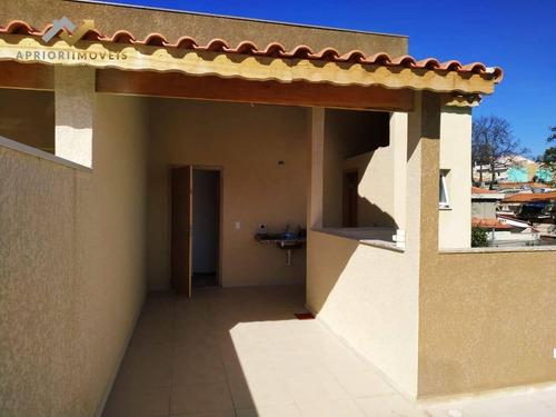 Cobertura Com 2 Dormitórios À Venda, 64 M² Por R$ 275.000,00 - Jardim Utinga - Santo André/sp - Co0117