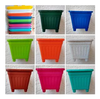10 Maceteros Mini Para Cactus De Colores 8x8x8