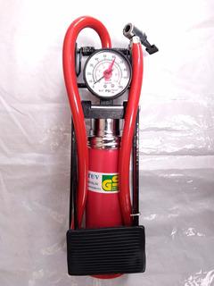 Bomba De Pie Mini Compresor De Aire Con Calibrador De Aire