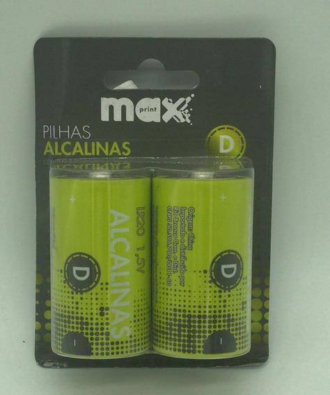 Pilha Alcalina Maxprint D 75640-1