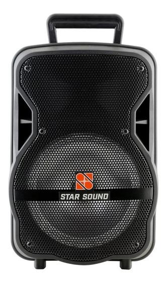 Caixa De Som Ativa Bateria Bluetooth Star Sound Ss80 Staner