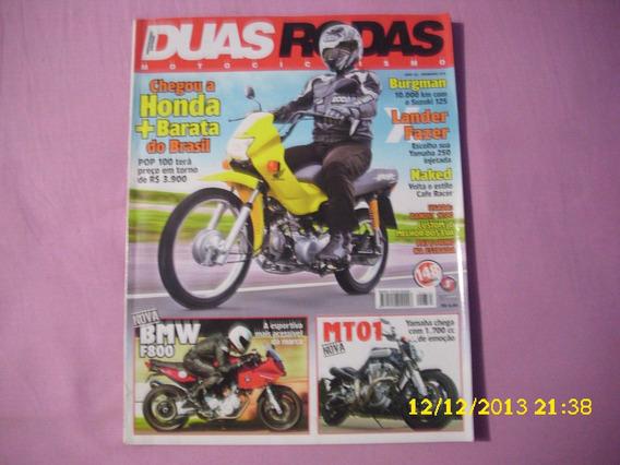 Revista Duas Rodas Nº 375 Honda Pop 100 - Lander X Fazer