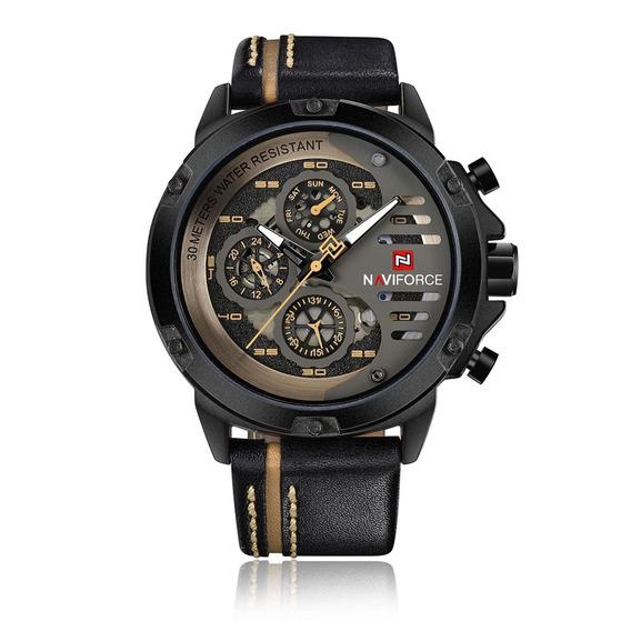 Reloj Naviforce Moda Casual Amarillo