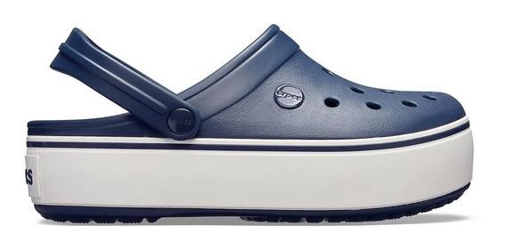 Crocs Originales Crocband Platform Rosa Claro Mujer C6ph