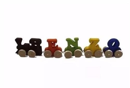 Imagem 1 de 1 de Trem Com Nome Para Brincar E Decorar Quarto Crianças