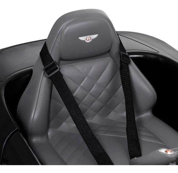 Carro Elétrico Bentley Exp12 Com R/c Preto 12v Bel Fix