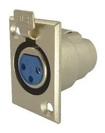 Conector Canon Jack P/chasis 3p Xlr-3