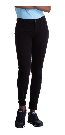 Calça Jeans Levis 711 Skinny Feminina Preta - Original
