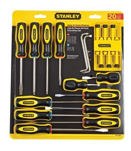 Juego De 20 Destornilladores 60-220s Stanley 60-220s