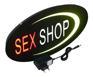 Placa De Led Sex Shop Letreiro Luminoso Loja Sinaliza. Neon