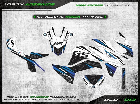 Kit Adesivo Honda Cg Titan 160 Kit Gráfico Gs Bmw