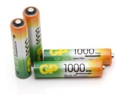 2 Pilas Recargable Aaa Gp 1000 Mah Triple A Bateria Nimh