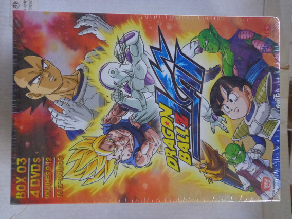 Box Dragon Ball Z Kai Vol.3 4 Dvds Lacrado $75 - Lote
