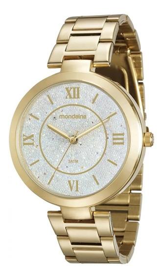 Relógio Mondaine Feminino Fundo Cristais 76615lpmvde1