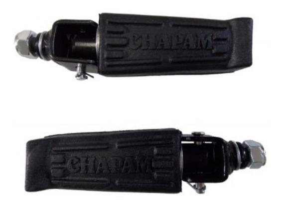 Par De Pedaleira Pedal Para Protetor De Motor E Carenagem Dianteiro Pedaleiras P/ Descanso Apoio - Chapam
