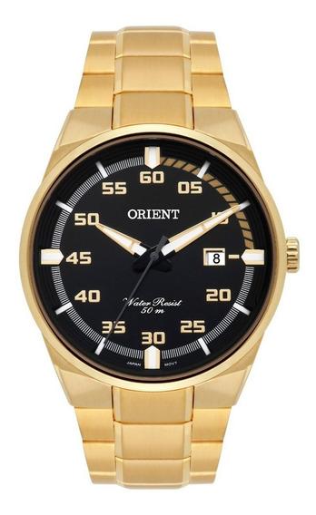 Relogio Orient Masculino Dourado - Mgss1161 P2kx